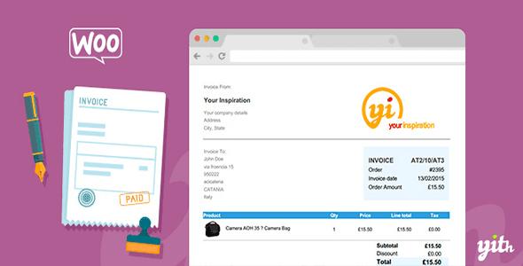 WooCommerce PDF Invoice and Shipping List v1.1.8 – YIThemes