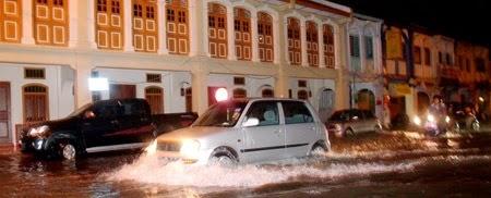 Banjir Kilat di Georgetown Pulau Pinang