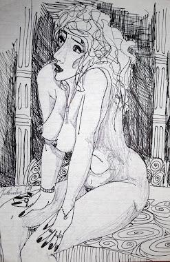 Sentada desnudo