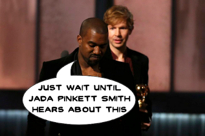 Kanye interrupts Beck Hansen