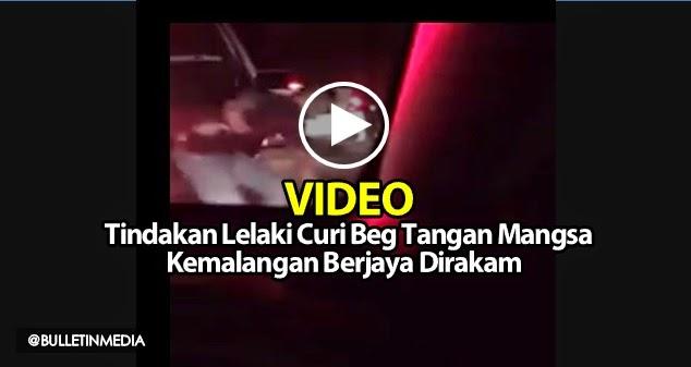 VIDEO Tindakan Lelaki Curi Beg Tangan Mangsa Kemalangan Berjaya Dirakam