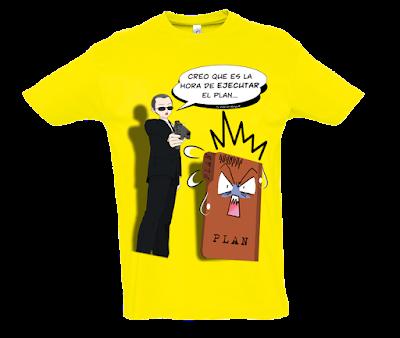 """Camiseta manga corta para hombre """"Llegó la hora"""" color amarillo"""
