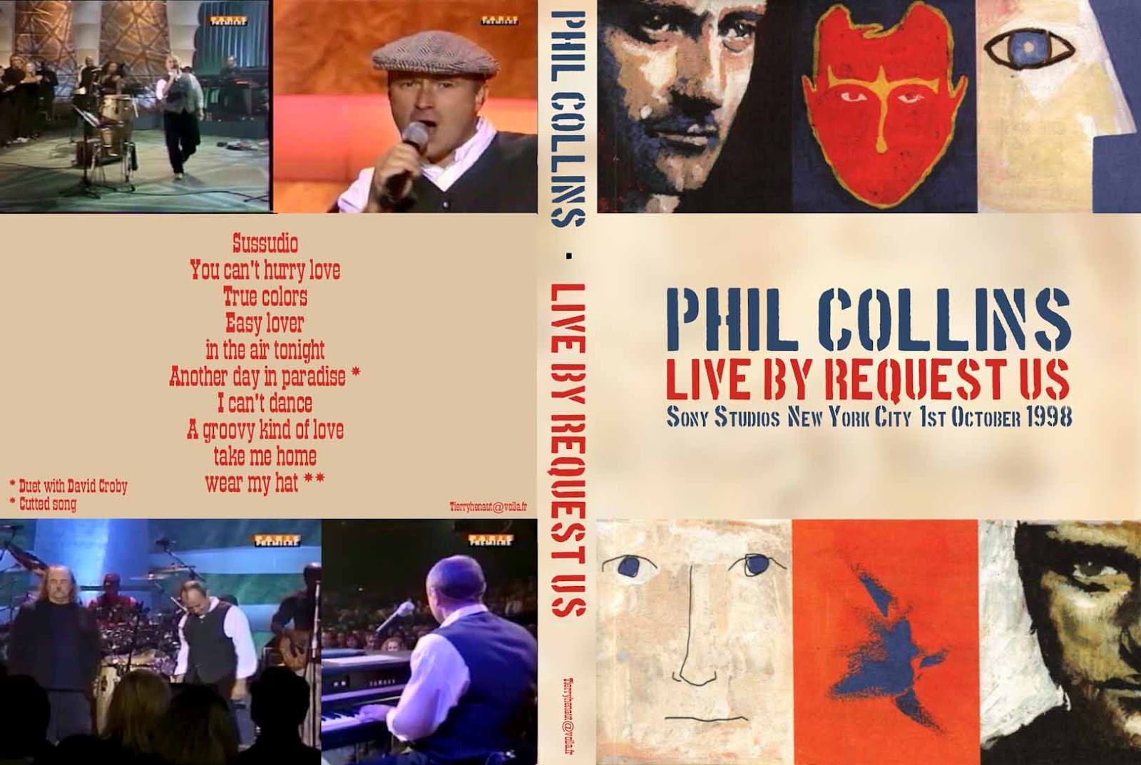 Phil collins peter gabriel take me home album picture.