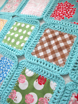 free crochet pattern fabric with crochet edge blanket
