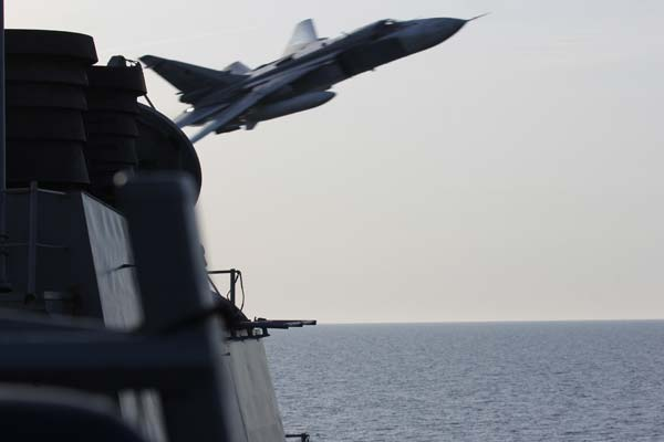 Warning To Russia Concerning Naval Flybys