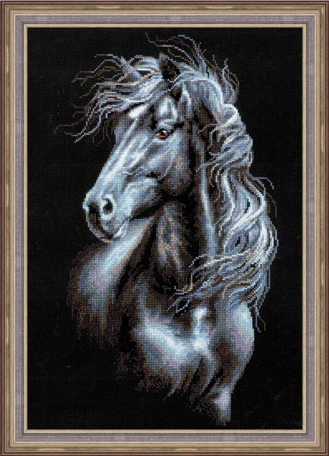 Схема вышивки крестом лошади скачать бесплатно фото 437