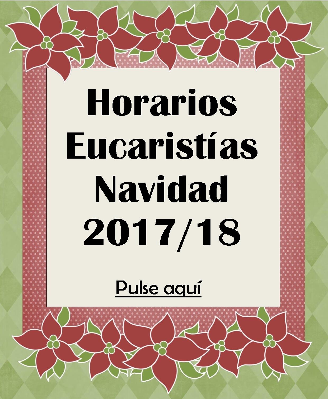 Eucaristías Navidad 2017/18