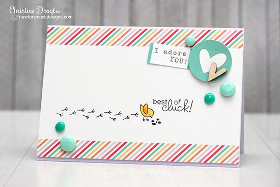 Chicken card by Christine Drogt for Newton's Nook Designs | Chicken Scratches Stamp