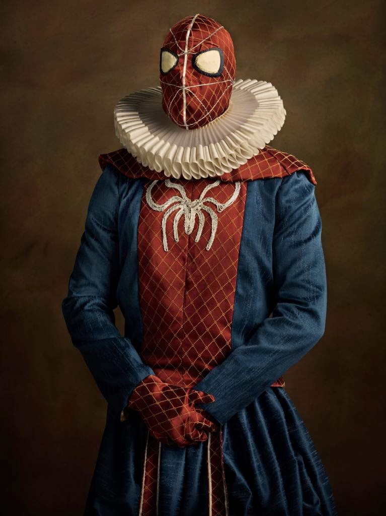 22-Spider-Man-Peter-Parker-Sacha-Goldberger-Superheroes-in-the-1600s-www-designstack-co