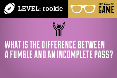 What is the difference between a fumble and an incomplete pass?