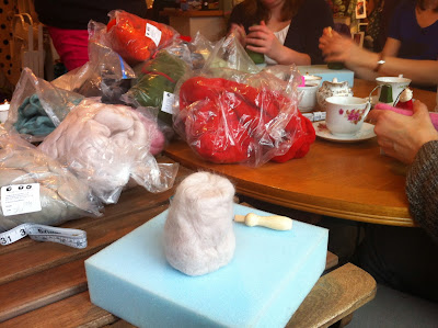 Needle felting class at The Fibreworks Oxford