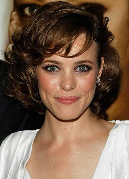 Hairstyles For Curly Hair And Oval Face : New classy short haircut for curly hair women