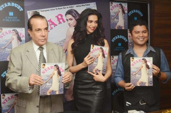 Deepika Padukone At Latest Stardust Magazine Cover Launch Stills