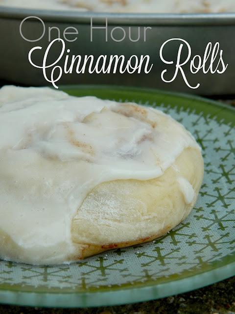 one hour cinnamon rolls (sweetandsavoryfood.com)
