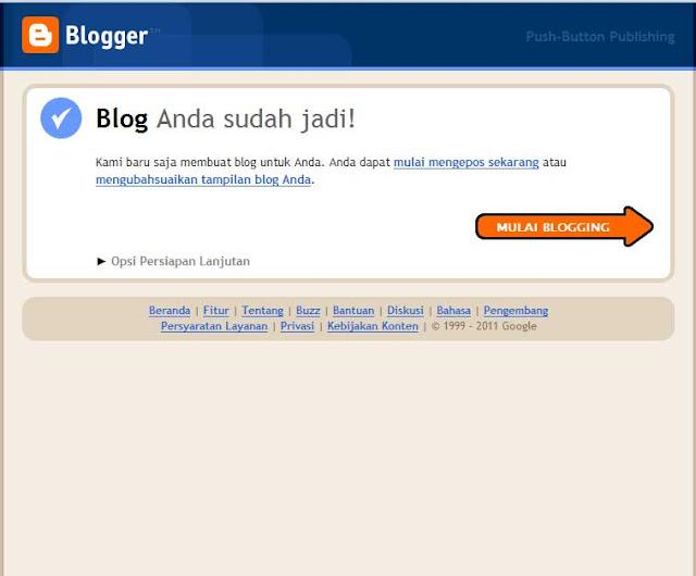 singkat dan jelas membuat blog