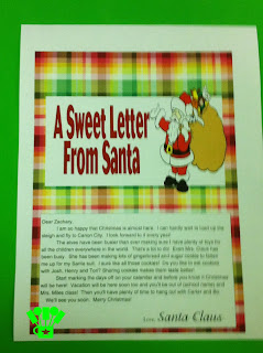 Personalized Santa Letter Printable
