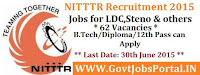 NITTTR Recruitment 2015