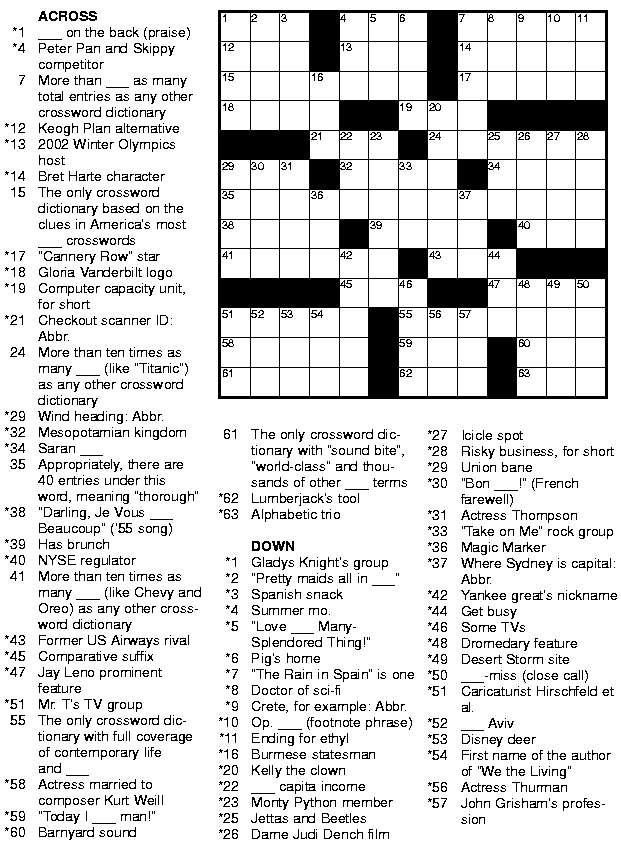 This is a photo of Crush Free Crossword Puzzles Printable