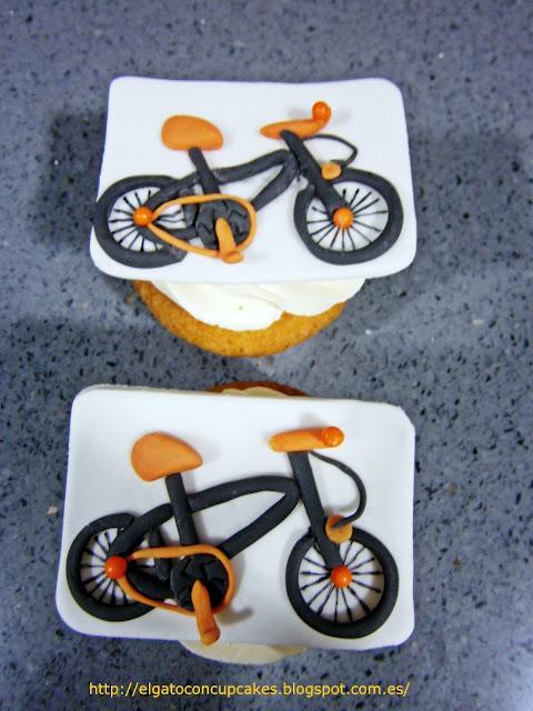 cupcakes deporte, cupcakes bicicleta