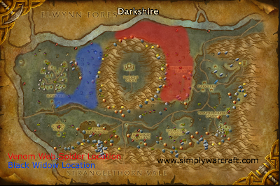 Darkshire Spider Silk Locations