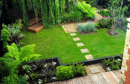 Modern homes garden ideas new home designs for Garden design landscaping ideas