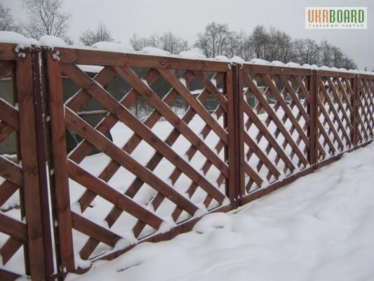 Деревянные ограды фото