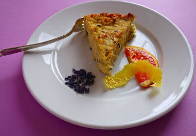 Orange Lavender Polenta Cake