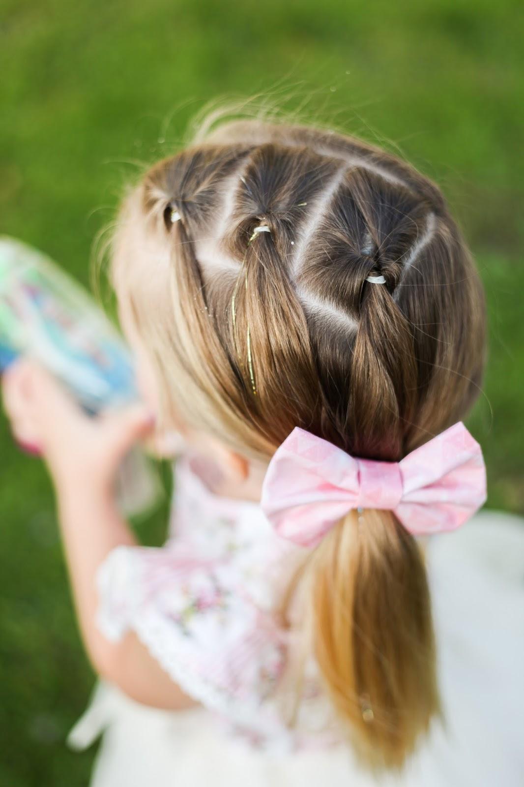 Детские причёски длинных волос своими руками