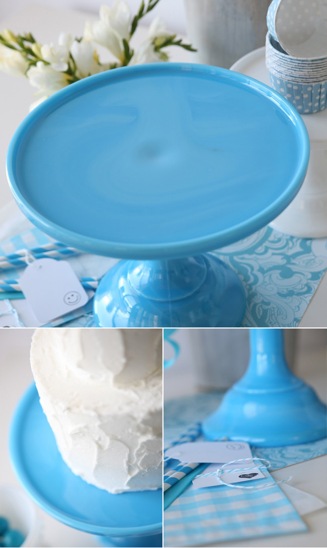 cake stand blue