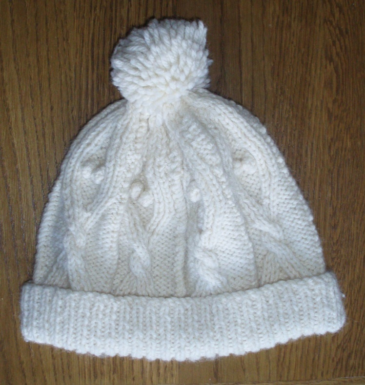 Easy Knitted Sweater Pattern : Knitting Now and Then: An Aran Bobble Hat