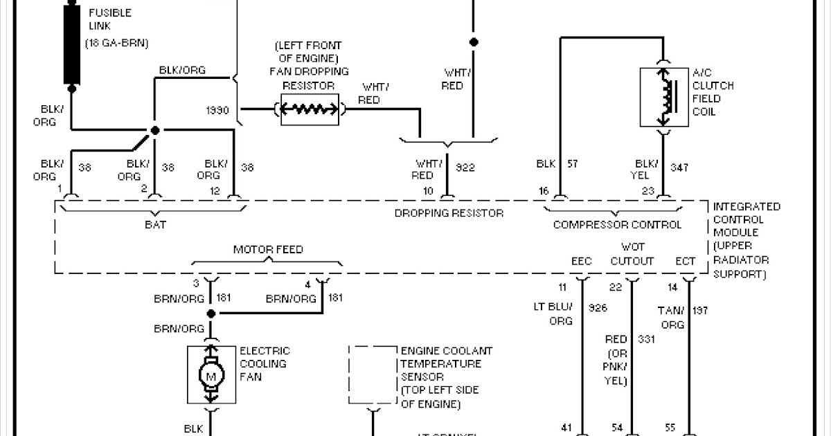 1999 Ford Taurus System Wiring Diagram Cooling Fan Circuit