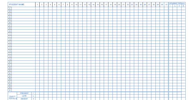 100 template attendance sheet 5 attendance sheet templates editable attendance sheet template calendar pronofoot35fo Choice Image