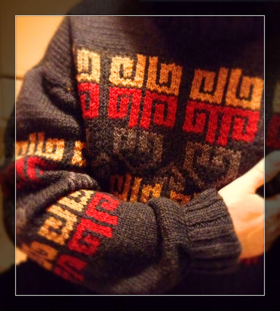 jacquard sweter