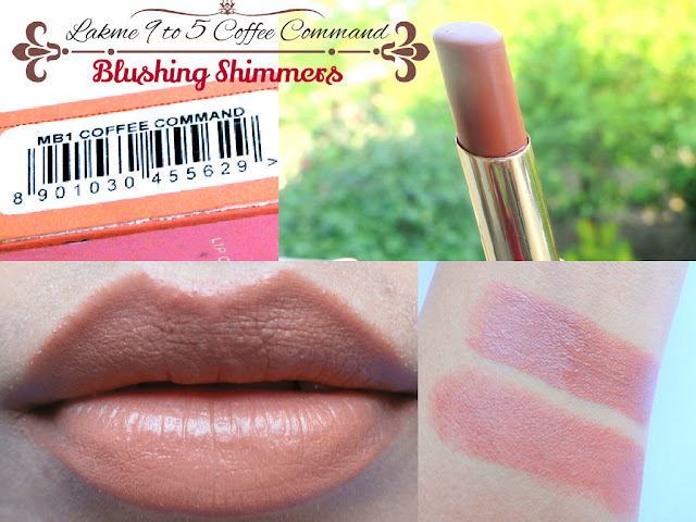 Lakme 9 to 5 Lipstick- Coffee Command
