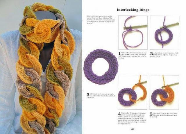 Вязание крючком вязаные шарфы