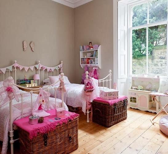 Dormitorio color rosa para dos niñas - Dormitorios colores ...
