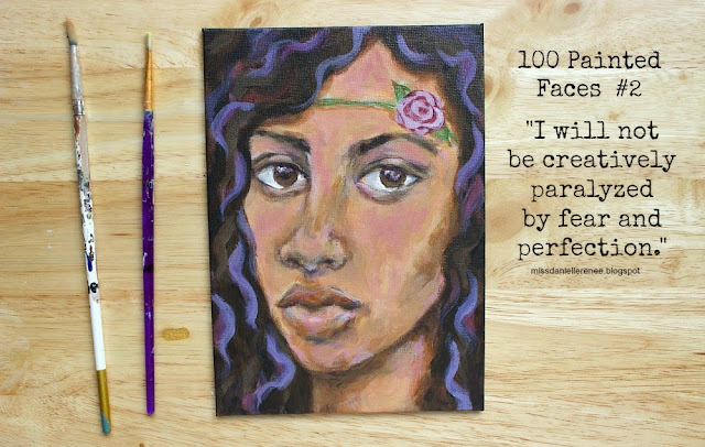 100 painted faces