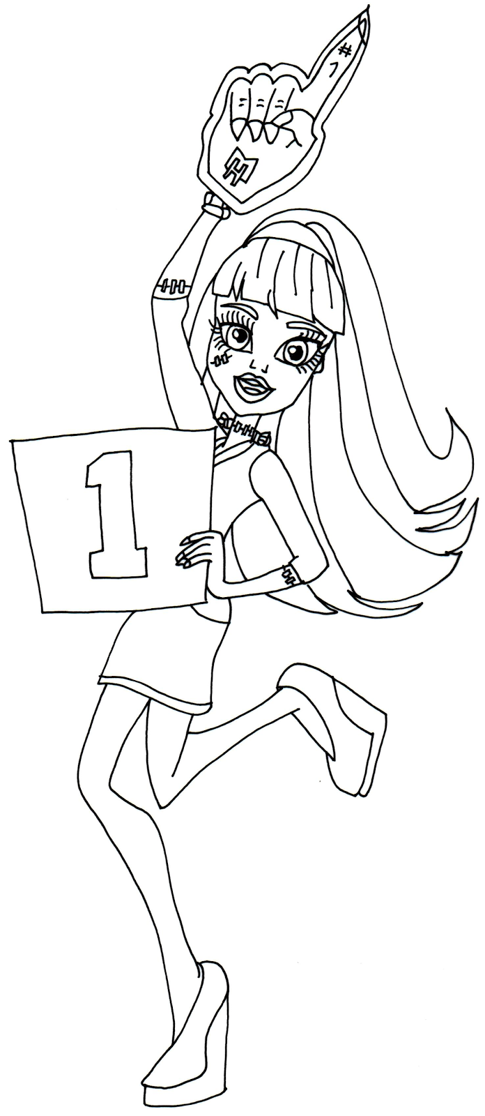 free printable monster high coloring pages frankie stein ghoul