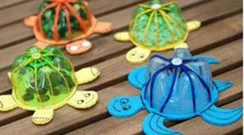 Manualidades f ciles tortugas con botellas de pl stico for Usable things made from recycled materials
