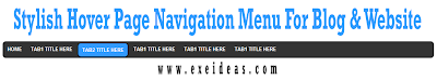 Stylish Hover Page Navigation Menu For Blog & Website