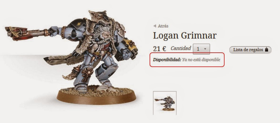 Logan Grimnar no disponible