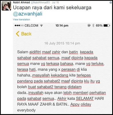 Tidak Ditegur, Azwan Ali Maki Nabil Ahmad Di Twitter