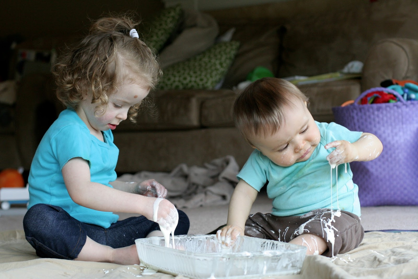 how to make flubber with cornstarch and water