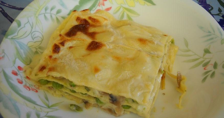 Lasagna funghi e piselli cucinare bene ricette di cucina for Cucinare piselli