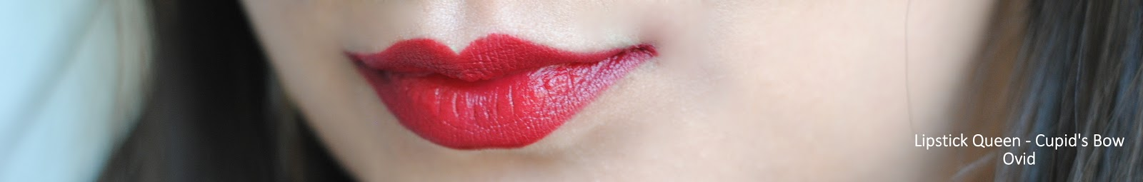 lipstick queen cupid's bow swatches ovid