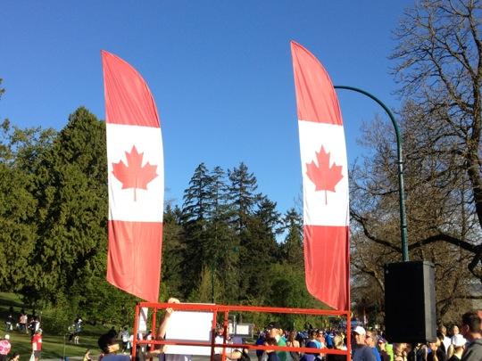 Vancouver Marathon corral flags