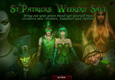 St Patrick's Day weekend sale at Vampire Wars