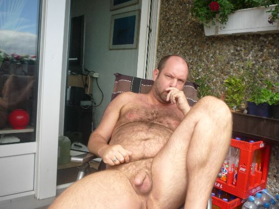 outdoorsman07012012 04 Chubby Sexy Guys Outdoors with their Cocks Hanging Out