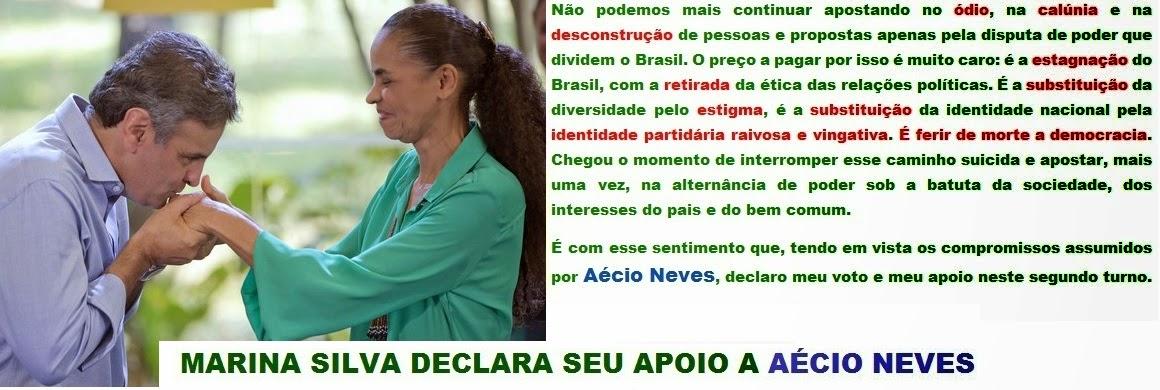 MARINA SILVA VOTA EM AÉCIO!