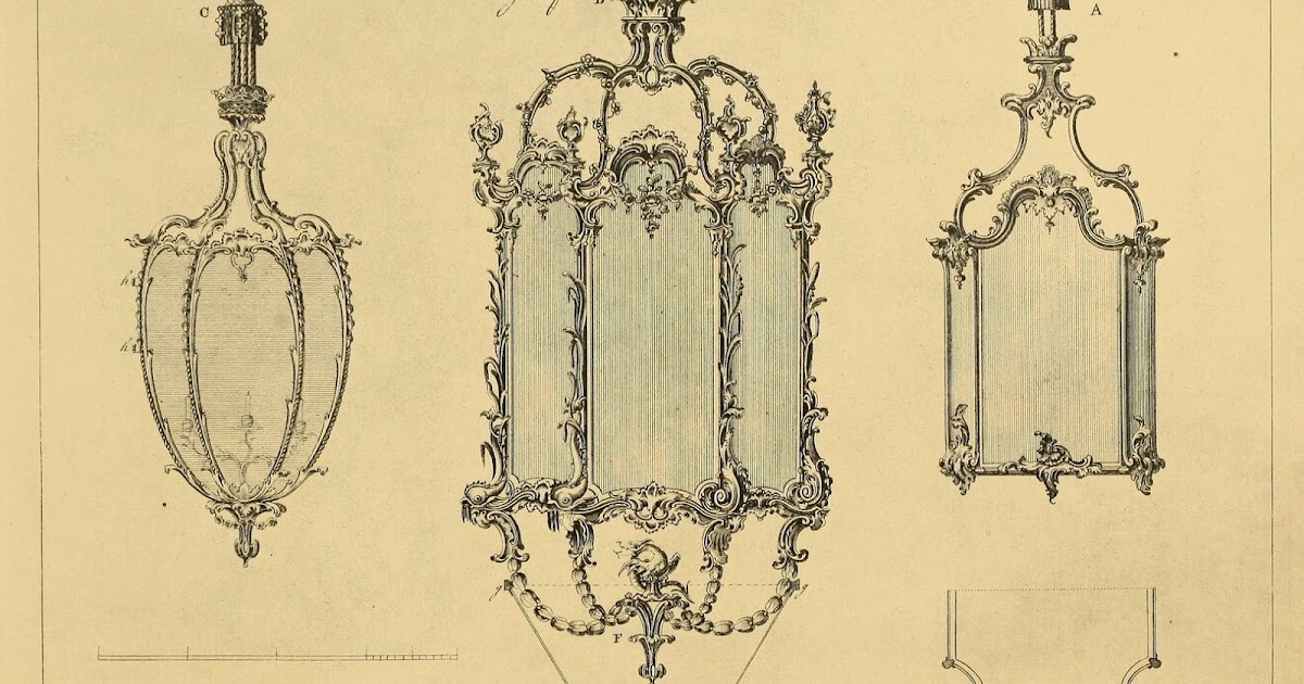 Sisters Warehouse: Beautiful Chandeliers Louis XV - Antique Print